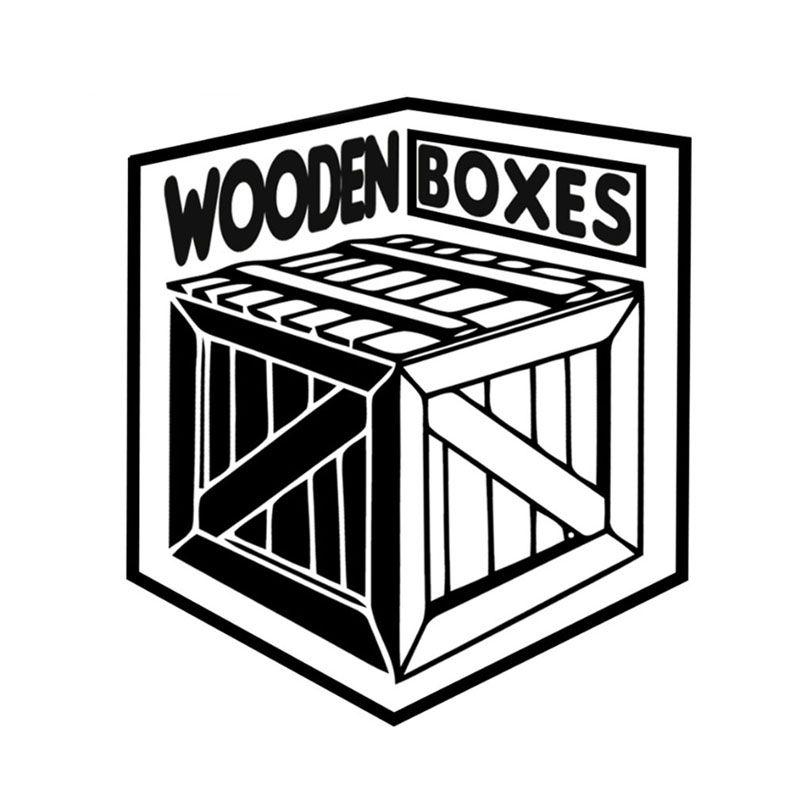 logo wooden boxes