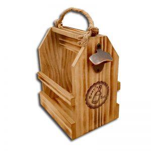 caja de madera con asa de cuerda para 6 cervezas vaciacaja de madera con asa de cuerda para 6 cervezas vacia