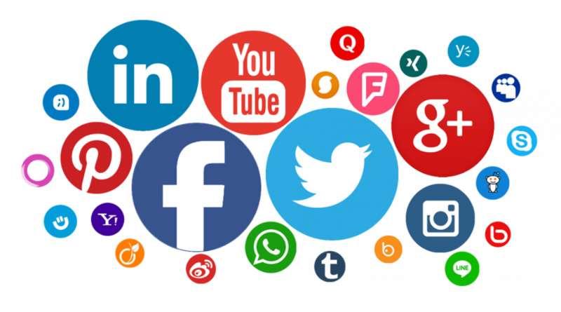 nube de iconos de redes sociales