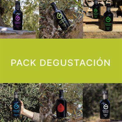 6 botellas de aveite que forman el pack